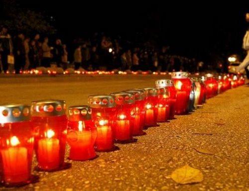 Paljenje svijeća u spomen na Vukovar