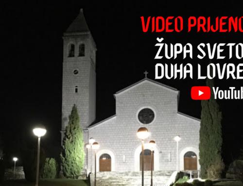 Video prijenos svetih misa i obreda Velikog tjedna u Župi Svetog Duha Lovreć – Opanci