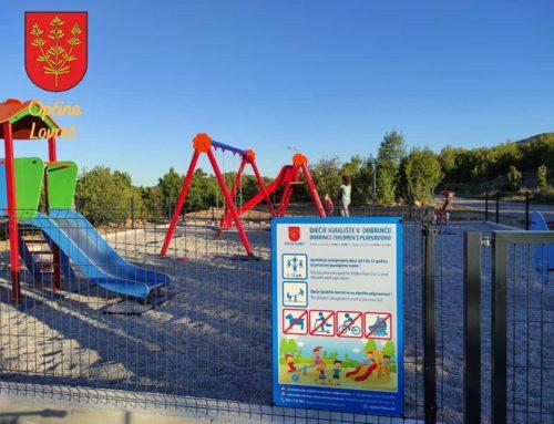 Izgrađeno prvo dječje igralište u Općini Lovreć